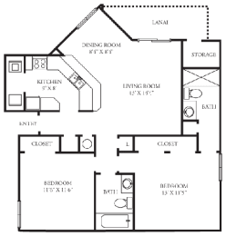 Brighton | 2 Bedroom | 2 Bath | 1,001 Sq.Ft. at Winthrop West Apartment Homes, Riverview