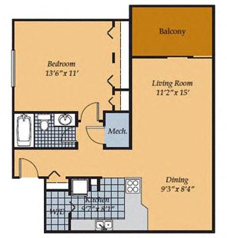 Floor Plan  Barrington Apartments 1br_2_FloorPlan