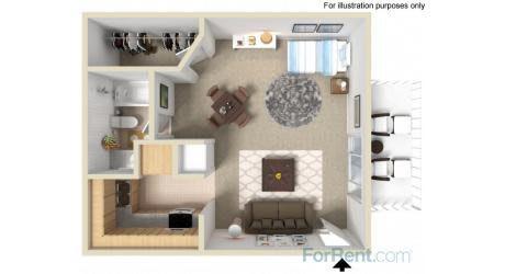 Floor Plan  Point Bonita Apartment Homes - Studio 1 Bath Apartment