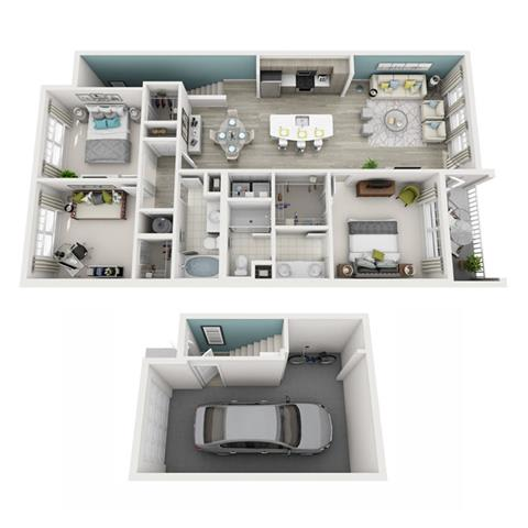 Floor Plan  3 Bed 2 Bath Radiant (Garage) Floor Plan at Altis Shingle Creek, Kissimmee