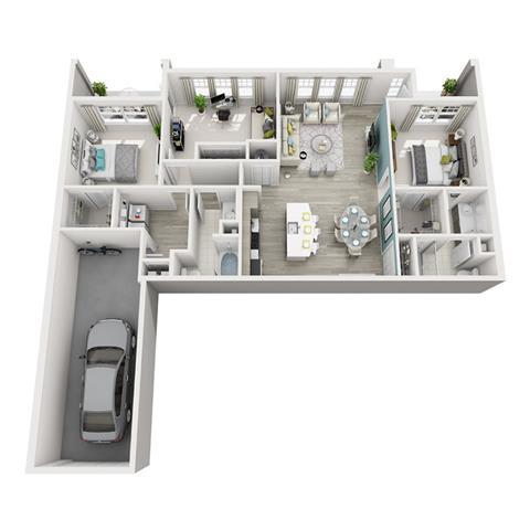 Floor Plan  3 Bed 2 Bath Excite Rhapsody Floor Plan at Altis Shingle Creek, Florida