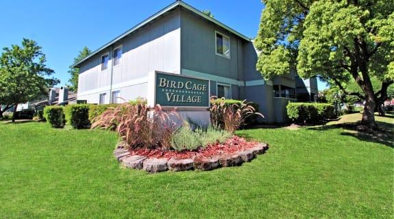 Birdcage Village Landmarker sign