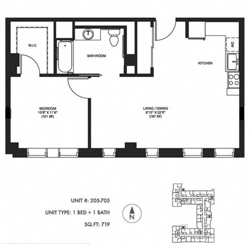 Unit image at Somerset Place Apartments, Chicago