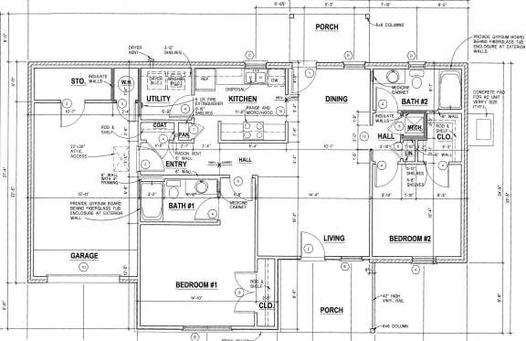 Floor Plan  2Bedroom/ 2Bath