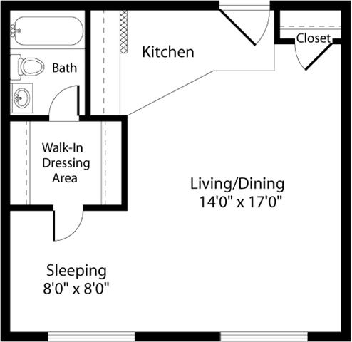 Floor Plan  S1 Floor Plan at The Fields of Arlington, Arlington, VA