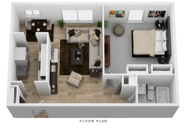 Floor Plan 1 Bedroom Deluxe