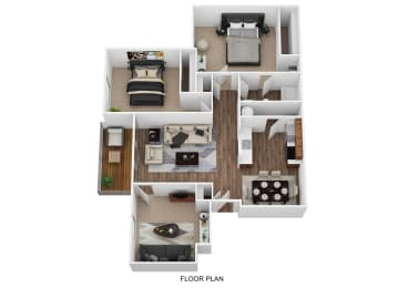 Renovated 2 bed with Den Floor Plan at Cooks Crossing Apartments, Milford
