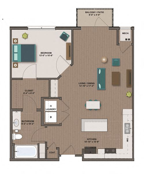 Floor Plan  FORD FloorPlan at The Edison at Rice Creek, Shoreview, MN