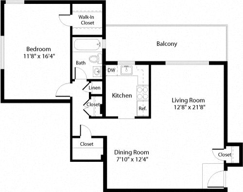 Floor Plan  A3 Floor Plan at The Fields of Arlington, Arlington, 22204