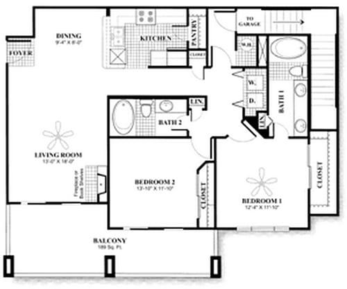 Floor Plan  D6.2 Floor Plan at San Marin, Austin, Texas