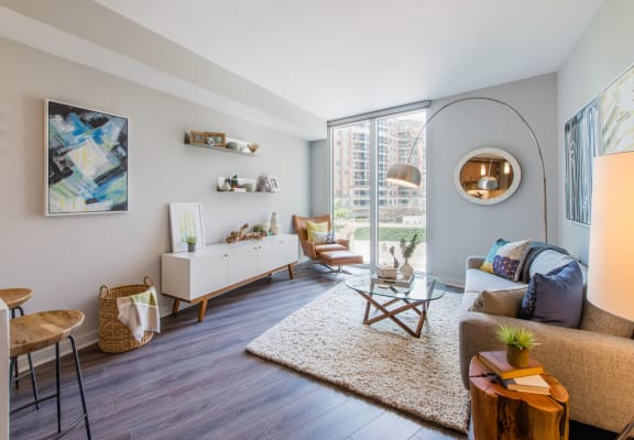 Modern Living Room at Element 28, Bethesda