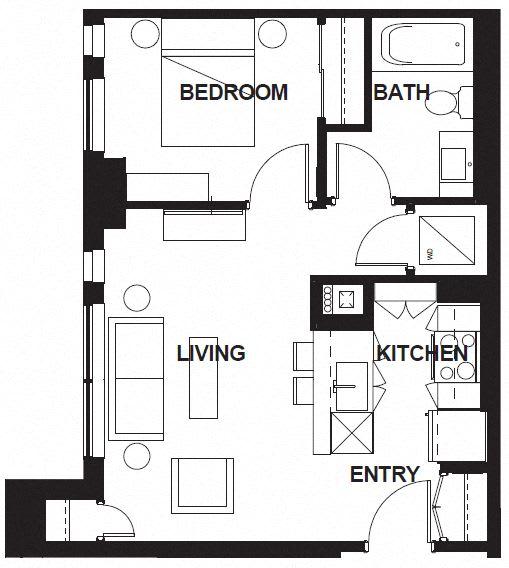 Floor Plan  E-X01 FloorPlan at VERSUS, Calgary, AB, T2R 1A8
