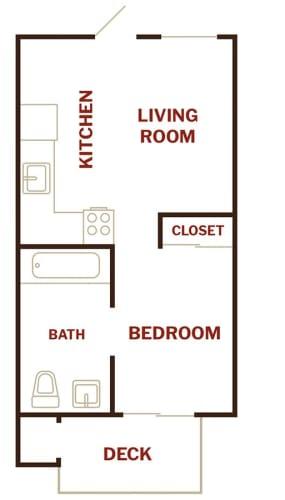 Floor Plan  Studio Floor Plan l The Breakers in Santa Cruz CA