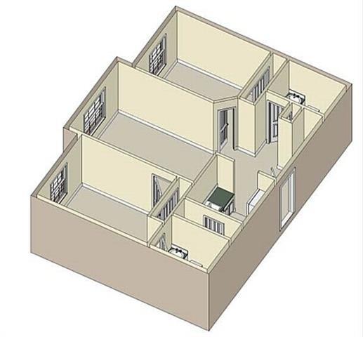 Floor Plan  2Bedroom 2Bath 3D Floorplan Unfurnished_Lakeside Commons Apartments West Palm Beach, FL