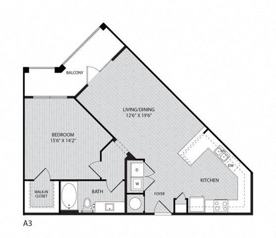 Floor Plan  A3 FloorPlan at Paxton Cool Springs, Franklin, TN, 37067