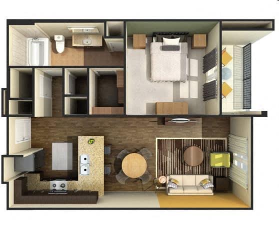 Floor Plan  one bedroom 710 sf