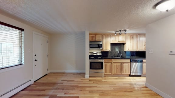 Gorgeous kitchen and living space at 23-33 Pearl