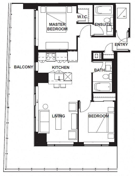 Floor Plan  W-302-W-X02 FloorPlan at VERSUS, Alberta