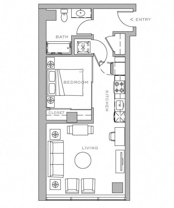 Floor Plan  Open 1x1