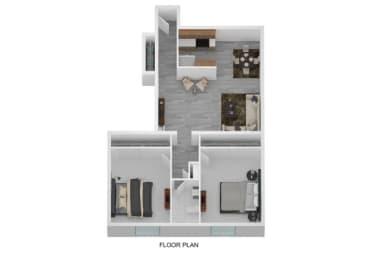 Floor Plan 2 Bedroom, 1.5 Bath