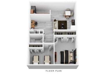 Floor Plan 2 Bedroom Corner