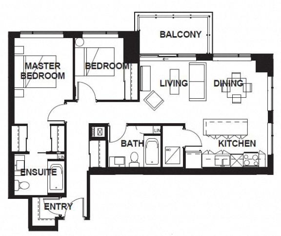 Floor Plan  W-309-W-X10 FloorPlan at VERSUS, Alberta, T2R 1A8