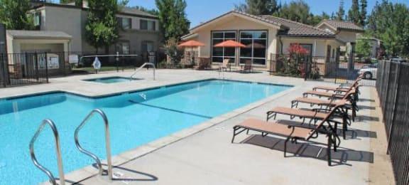 Pool with lounge chairs Sacramento Ca 95825 Rentals La Provence Apts
