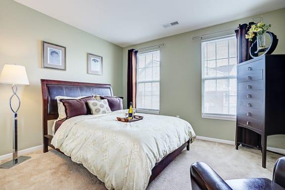 Furnished Bedroom at Brickshire Apartments, Indiana 46410