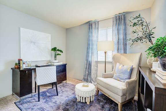 Flex Space turned into Office Room at Scarborough Lake Apartments, Indianapolis