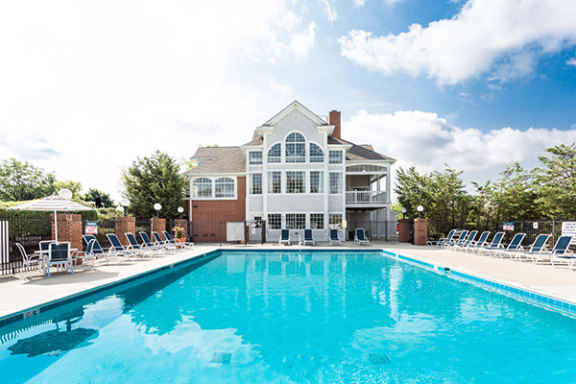 Shimmering Outdoor Swimming Pool with Large Sundeck at Sundance at The Crossings Apartments, Indiana