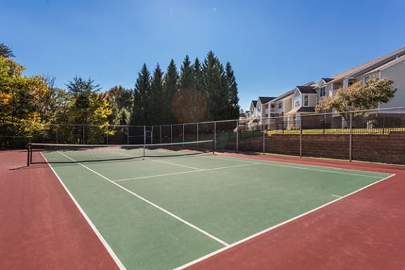 Full Size Outdoor Tennis Court at Sunscape Apartments, Roanoke, 24018