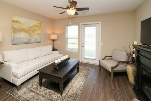 Balcony or Patio With Enclosed Storage at Trade Winds Apartment Homes in Elkhorn, NE