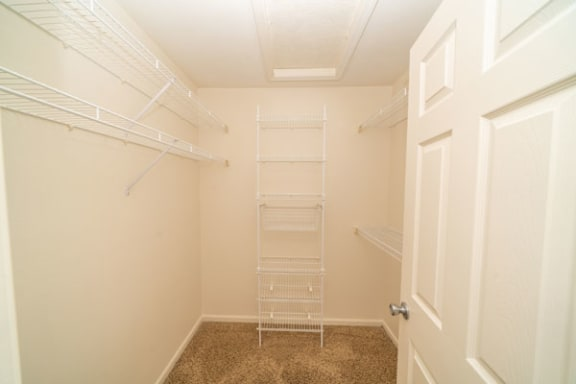 Townhome Walk-in Closet at Lynbrook Apartments and Townhomes in Elkhorn, Nebraska
