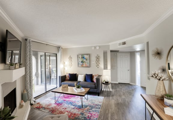 Large living room at Country Brook Apartments in Chandler, AZ 85226