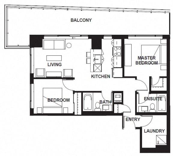 Floor Plan  W-3401 at VERSUS, Calgary, Alberta