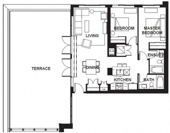 Floor Plan  W-3405 FloorPlan at VERSUS, Calgary, AB