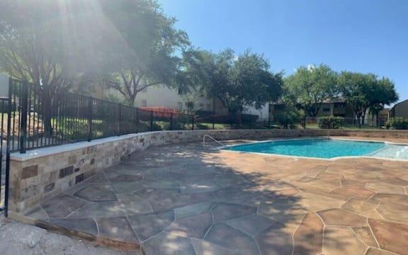 Sunny pool side at Summit Ridge Apartments Temple, TX