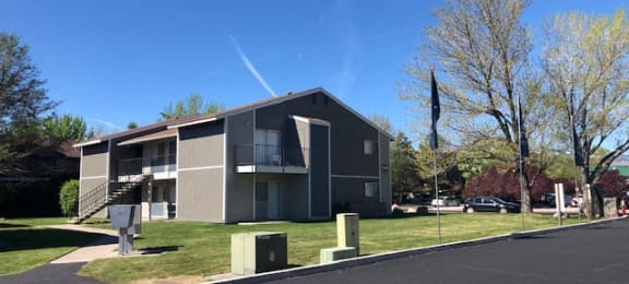 Apt building with grass Reno NV apartments for rent at 2300 West
