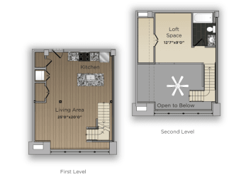 One Bed One Bath Counselor Large Floor Plan at 101 Ellwood, Maryland, 21224