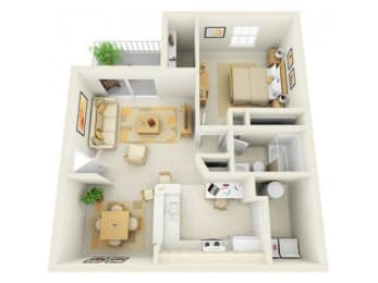 Arie A1 Floor Plan |Bay Breeze Villas