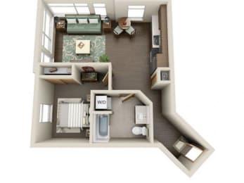 Floor Plan  Traditional 1bd 1ba - C Floor Plan at Link Apartment Homes, 4550 38th Avenue SW, WA