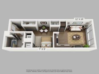 Floor Plan  Journey Floorplan at  ALARA Union Station Apartment Homes, Denver, 80202