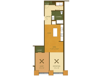 Loray Mill Floor Plan Two Bedroom