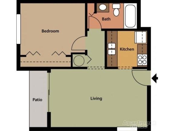 Floor Plan  Palmer FloorPlan at St. Andrews Palm Beach Apartments, West Palm Beach, 33411