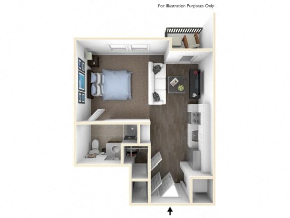 Floor Plan  275.S-A 3D Floor Plan at The George & The Leonard, Atlanta