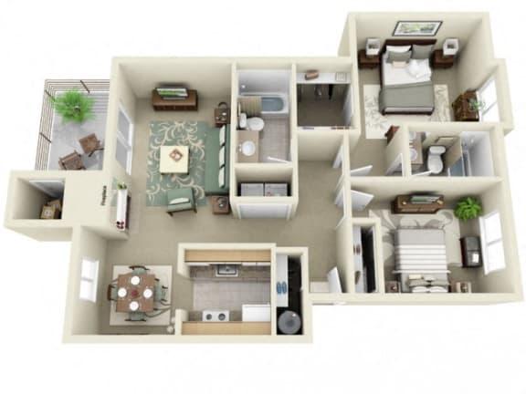 Floor Plan  Montair at Somerset Hill|Rainier|2Bed/2Bath