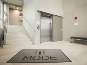 Entry to Elevator Apartments in San Mateo| Mode Apartments