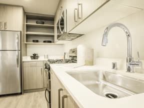 View of kitchen Apartments in San Mateo| Mode Apartments