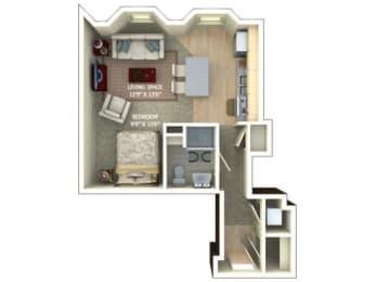 A1 Floor Plan |1600 Glenarm