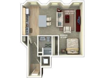 A2 Floor Plan |1600 Glenarm